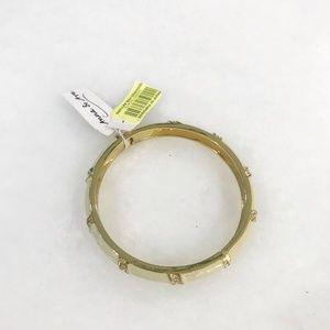 Anna & Ava Yellow Enamel Hinged Bracelet